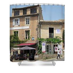 Village Life Shower Curtain by Pema Hou
