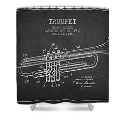 Vinatge Trumpet Patent From 1939 Shower Curtain by Aged Pixel