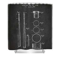 Vintage Baseball Bat Patent From 1926 Shower Curtain