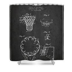 Vintage Basketball Goal Patent From 1936 Shower Curtain by Aged Pixel