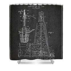 Vintage Oil Drilling Rig Patent From 1911 Shower Curtain