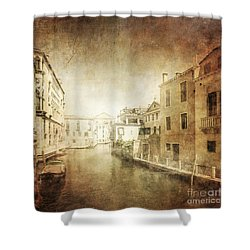 Vintage Photo Of Venetian Canal Shower Curtain by Evgeny Kuklev