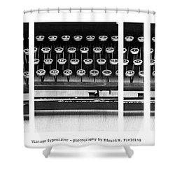 Vintage Typewriter Shower Curtain by Edward Fielding