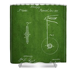 Vintage Yoyo Patent Drawing From 1867 Shower Curtain by Aged Pixel