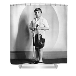 Violinist Yehudi Menuhin Shower Curtain