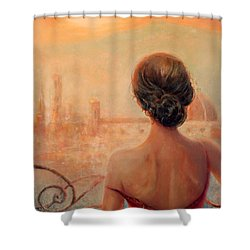 Visions Of Florence Shower Curtain