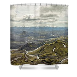 Volcano Valley In Iceland Shower Curtain
