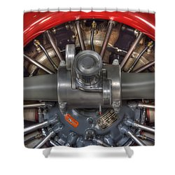 Vultee Bt-13 Valiant Propeller Shower Curtain