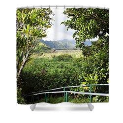 Wailua Valley State Wayside Shower Curtain by Jenna Szerlag