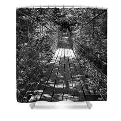 Walk Through Woods Shower Curtain