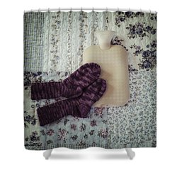 Warm And Cozy Shower Curtain by Joana Kruse