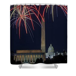Washington Dc Fourth 3 Shower Curtain