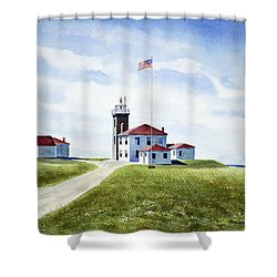 Watch Hill Ri Lighthouse Shower Curtain