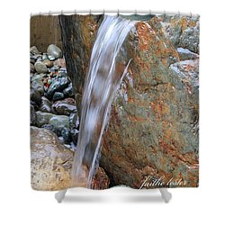 Water And Rocks II Shower Curtain
