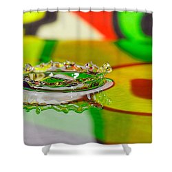 Water Crown Shower Curtain by Peter Lakomy