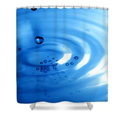 Water Drops Shower Curtain by Michal Bednarek