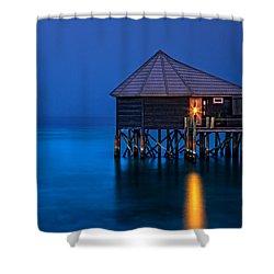 Water Villa In The Maldives Shower Curtain