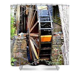 Shower Curtain featuring the photograph Water Wheel by Tara Potts