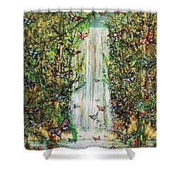 Waterfall Of Prosperity II Shower Curtain