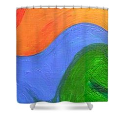 Wavelength Shower Curtain by Genevieve Esson