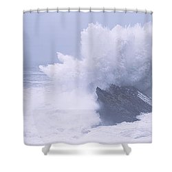 Waves Breaking On The Coast, Shore Shower Curtain