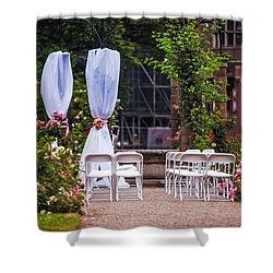 Wedding Arrangement In De Haar Castle. Utrecht Shower Curtain by Jenny Rainbow