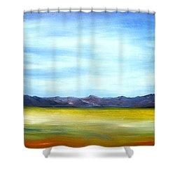 West Texas Landscape Shower Curtain
