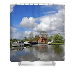 Wey Canal Surrey England Uk Shower Curtain