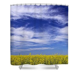 Where Land Meets Sky Shower Curtain by Keith Armstrong