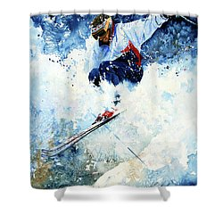 Shower Curtain featuring the painting White Magic by Hanne Lore Koehler