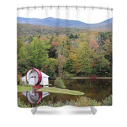 White Mountains Indian Head Nh Shower Curtain