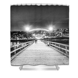 White Rock Pier Shower Curtain