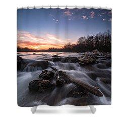 Wild River Shower Curtain by Davorin Mance