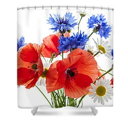 Wildflower Bouquet Shower Curtain