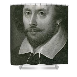 William Shakespeare Shower Curtain by English School