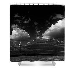 Windmill Electric Power Station Shower Curtain