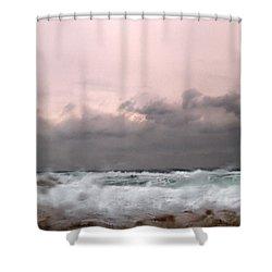 Window Sea Storm  Shower Curtain by Stelios Kleanthous