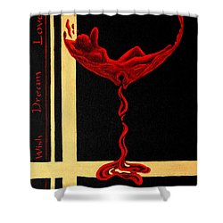 Wine Dream Shower Curtain by Sandi Whetzel