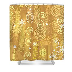 Shower Curtain featuring the digital art Winter Dress Detail by Kim Prowse