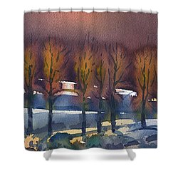 Shower Curtain featuring the painting Winter Fantasy by Donald Maier