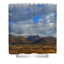 Winter In Golden Valley Shower Curtain