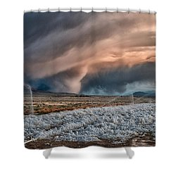 Winter Storm Shower Curtain by Cat Connor
