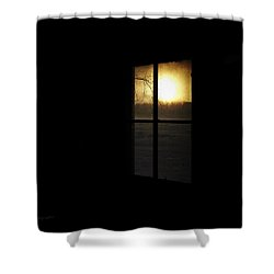 Shower Curtain featuring the photograph Winter Sunset by Cynthia Lassiter