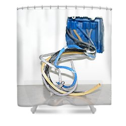 Shower Curtain featuring the photograph Wire Box by Henrik Lehnerer