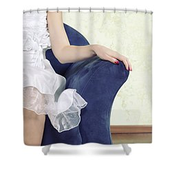 Woman On Chair Shower Curtain by Joana Kruse