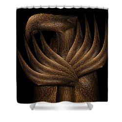 Wooden Bird Shower Curtain by Christopher Gaston