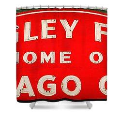 Wrigley Field Sign Shower Curtain