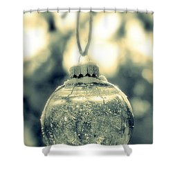 Shower Curtain featuring the photograph Xmas Ball by France Laliberte