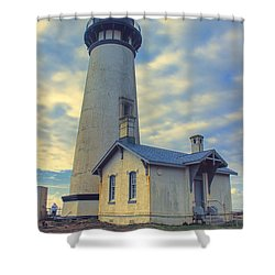 Yaquina Head Lighthouse Shower Curtain by Cathy Anderson