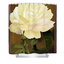 Yellow Rose Shower Curtain by Blue Sky
